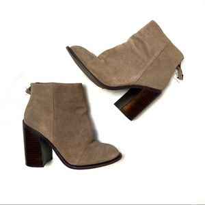 Kelsi Dagger Leather Suede Booties 6